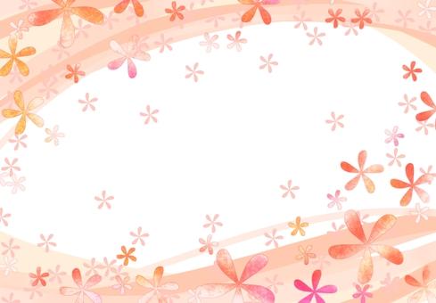 꽃 무늬 프레임