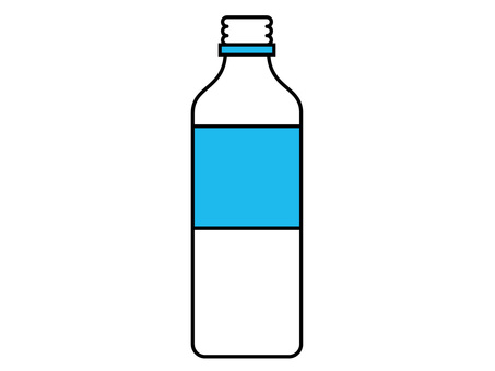 Pet bottle beverage container (7) opened light blue