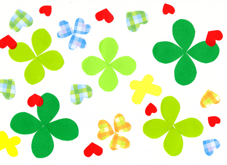 Cutting picture of clover