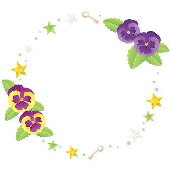 Stars and pansies frame