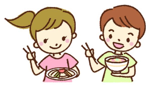Children's summer vacation lunch