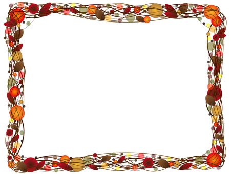 Autumn lease frame