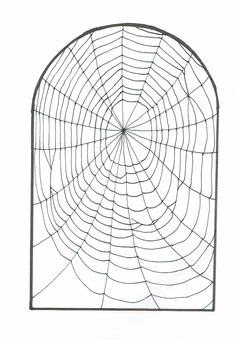 Illustration of spider web