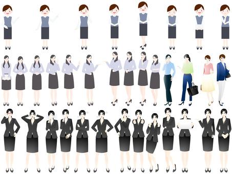 充分的身體女性圖標集