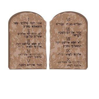 Ten Command Stone Board