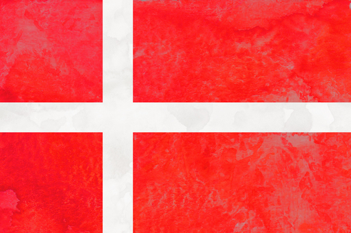 Flag watercolor Denmark