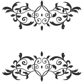Art Nouveau decoration 06 (black)