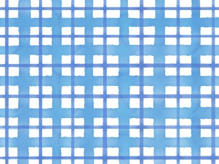 수채화 체크 무늬 블루