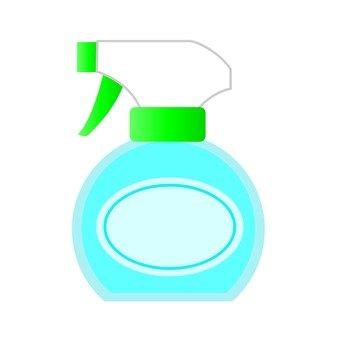 Spray type detergent, blue, round type