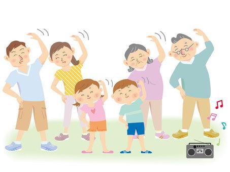 Radio exercise _2 households