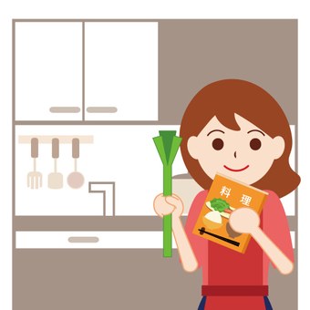 Image of housewife (cooking)