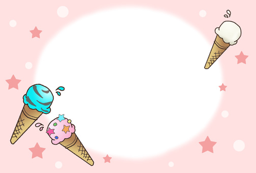 Ice cream frame ② That ②