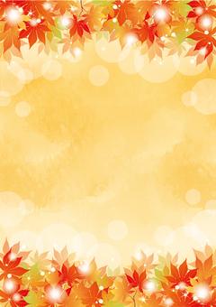 가을의 단풍 단풍 프레임 오렌지 2 종