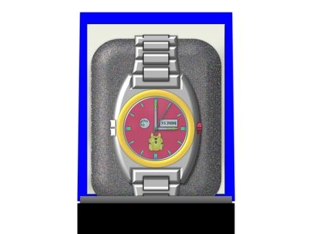 A clock clock face red (2164)