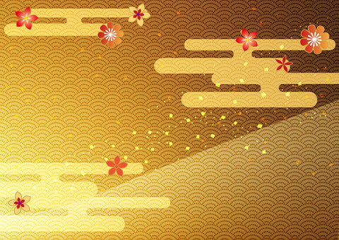 First month _ and handle _ gold foil background