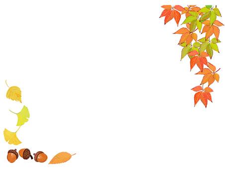 秋 紅葉のフレーム