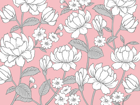 Roses Floral Pattern Texture Pink