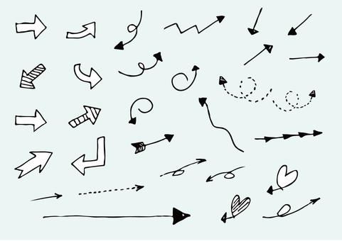 Arrow _ Handwriting _ Black And White