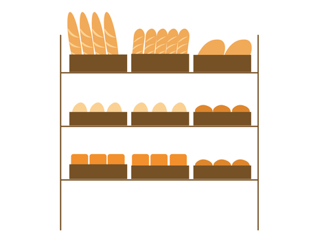 Bread display shelf 1