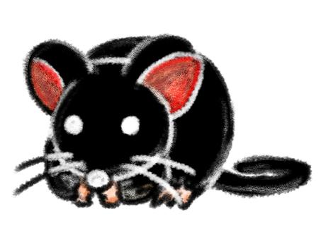 Mouse Cute White Edge