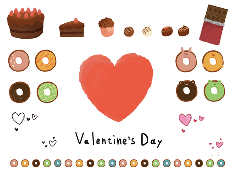 Valentine's day illustration material