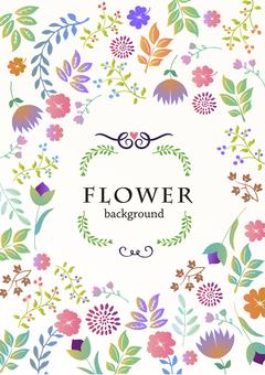 Background material / handwritten flower [vertical]