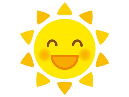 Illustration 2 of the smiling sun (yellow)