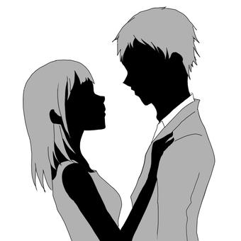 男人和女人互相凝視