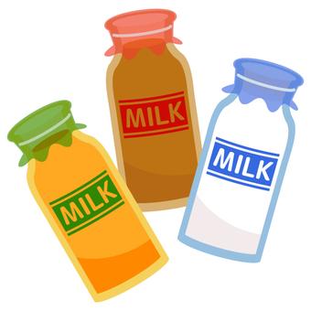 Milk · fruit milk · coffee milk