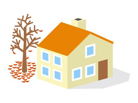 Late autumn house 1