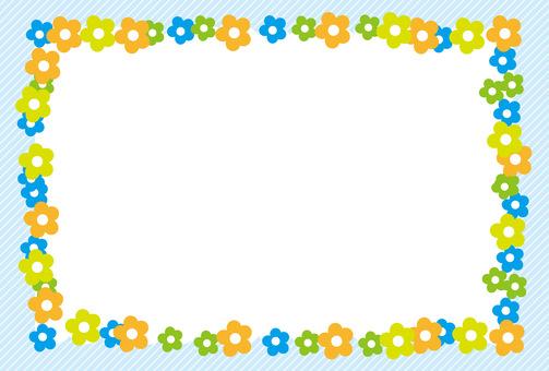 Flower frame _ Blue series
