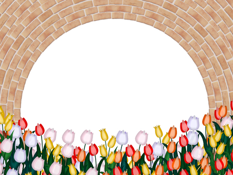 Tulip and brick frame