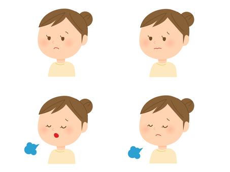 Female facial expression various 5