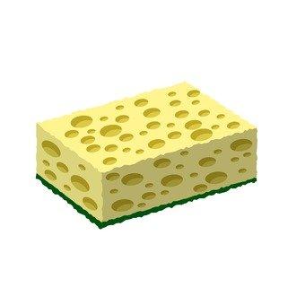 Dishware sponge