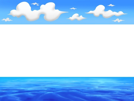 Sky and sea frame