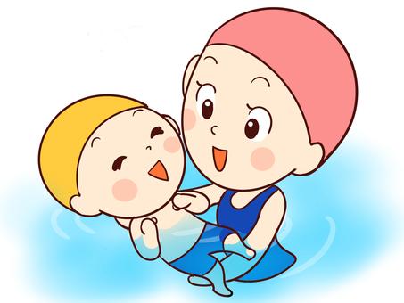 游泳池嬰兒課