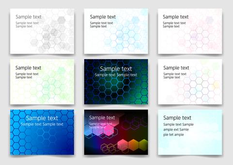 Colorful network abstract background material set