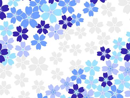 Blue cherry background · Wallpaper