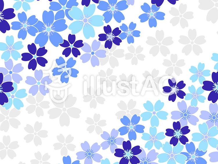 青の桜の背景 壁紙イラスト No 1597 無料イラストなら イラストac