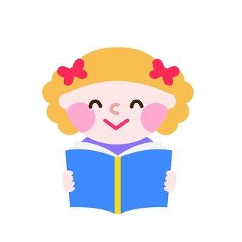 A girl who loves books