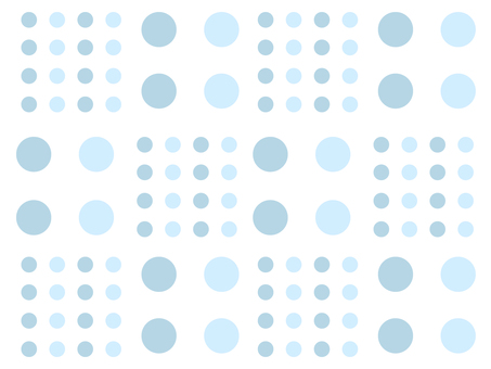 Large and small dots (blue)