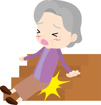 Falling 02 (old woman)