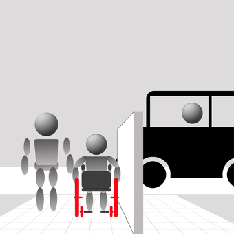 Wheelchairs and one intersection