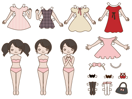 Dress up doll fashion dress up