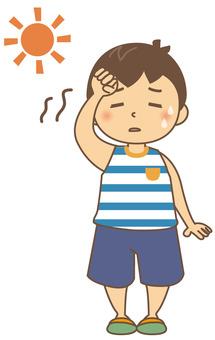 夏天的童年中暑01