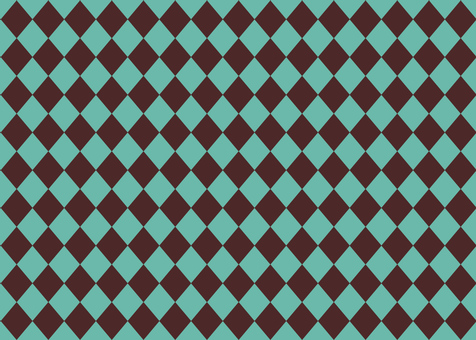 Diamond pattern background Brown × turquoise