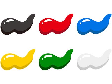 6色絵の具