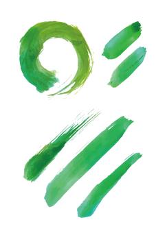 붓 소재 08 녹색