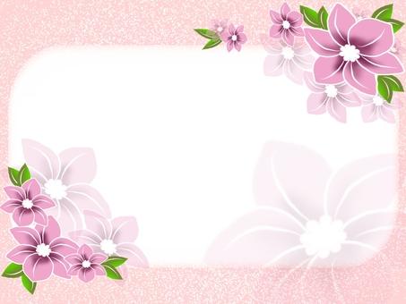 花裝飾框架