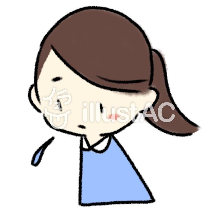 悲しい顔の女性イラスト No 1210546無料イラストならイラストac